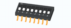 What does a dip switch look like?